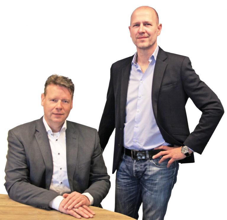 De oprichters van FM Zorg Jurriën Blik en Patrick Engels